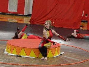 varsity guard members performing