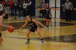 Anna on the basketball court
