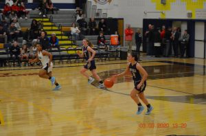 Anna playing in the sectional game