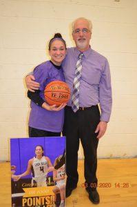 Anna with Coach Tim Derwin