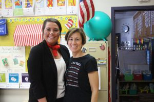 cat in the hat with Mrs. Lisicki