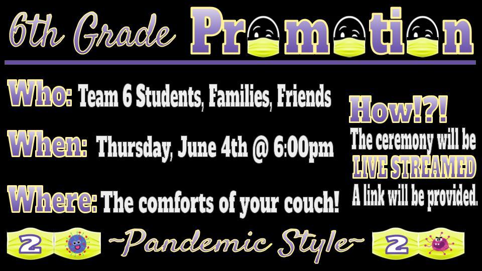 invitation to sixth grade promotion