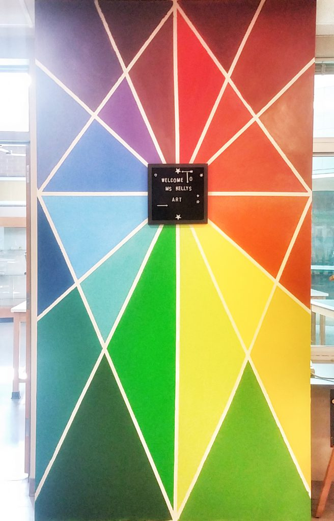 color wheel mural
