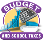 Budget and School Taxes icon