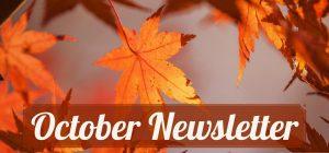 October Newsletter imposed over fall leaves