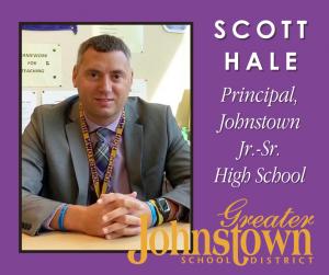 Johnstown Jr.-Sr. High School Principal Scott Hale