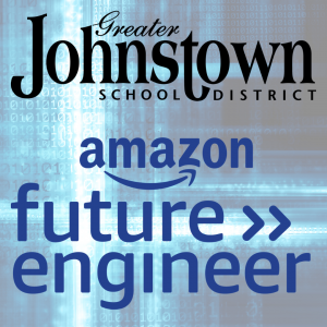 The Johnstown logo is shown along with the Amazon future engineer logo