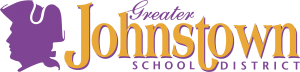 the Greater Johnstown School District logo in gold and purple colors